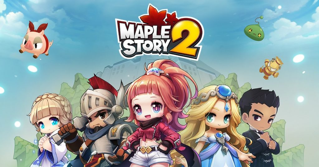 An image of Maple Story 2 characters.